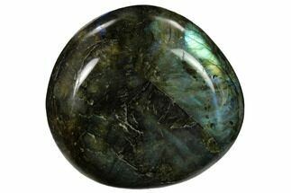 "Buy 2.6"" Flashy, Polished Labradorite Palm Stone - Madagascar - #155668"