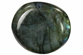 "2.5"" Flashy, Polished Labradorite Palm Stone - Madagascar For Sale, #155675"