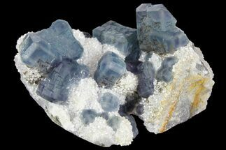 "3"" Multicolored Fluorite Crystals on Quartz - China For Sale, #149747"