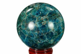 "2.2"" Bright Blue Apatite Sphere - Madagascar For Sale, #154238"