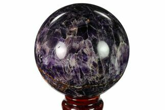 "Buy 3.4"" Polished Chevron Amethyst Sphere - Morocco - #157624"