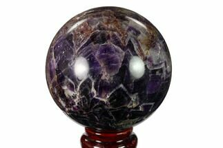 "3.35"" Polished Chevron Amethyst Sphere - Morocco For Sale, #157619"