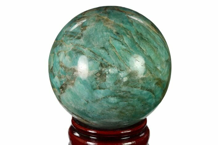"3.15"" Polished Graphic Amazonite Sphere - Madagascar"