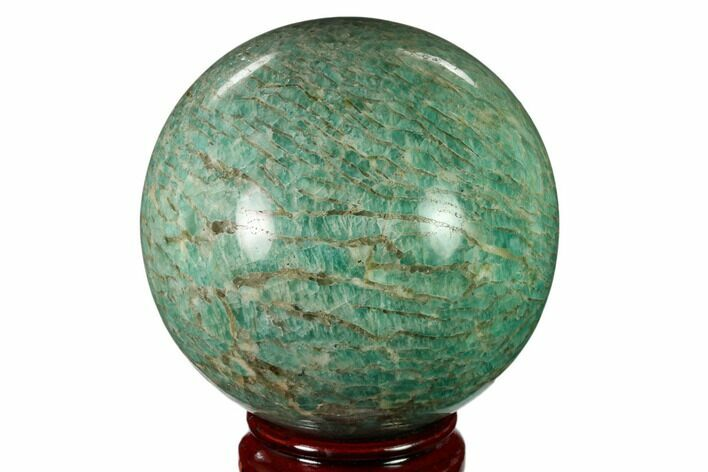 "3.85"" Polished Graphic Amazonite Sphere - Madagascar"