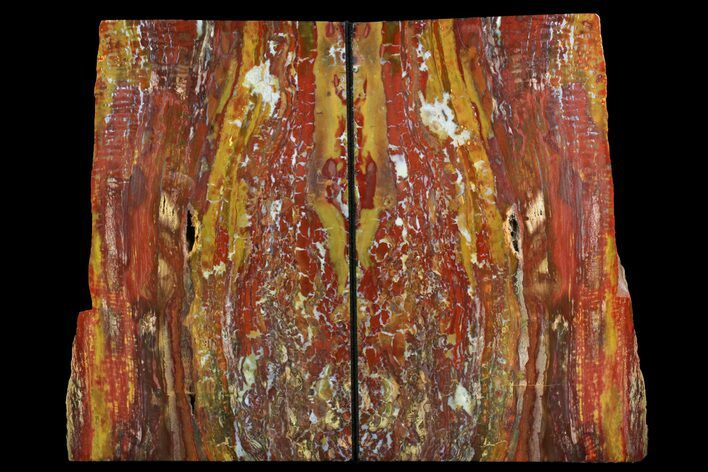 "8.2"" Tall, Red And Yellow Jasper Bookends - Marston Ranch, Oregon"