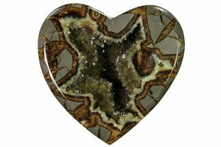 "Buy 4.7"" 3D Utah Septarian Heart - Beautiful Crystals - #160186"