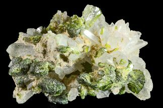 "1.2"" Lustrous Epidote with Quartz Crystals - Morocco For Sale, #161135"