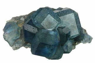"2.85"" Blue-Green Cuboctahedral Fluorite on Sparkling Quartz - China For Sale, #161786"