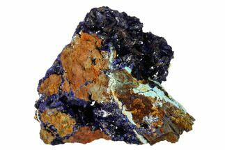 "Buy 2.9"" Sparkling Azurite Crystals on Chrysocolla - Laos - #162601"