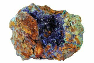 "4.1"" Azurite Crystals with Malachite & Chrysocolla - Laos For Sale, #162608"