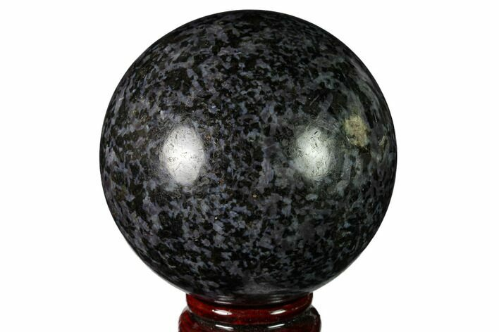 "3.2"" Polished, Indigo Gabbro Sphere - Madagascar"