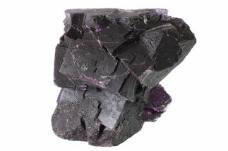 "3.3"" Dark Purple Cubic Fluorite Crystal Cluster - China For Sale, #163550"