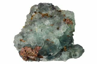 "3.4"" Sea-foam Green, Cubic Fluorite Crystal Cluster - Morocco For Sale, #164549"