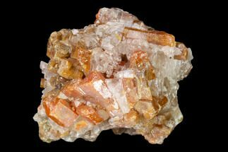 "1.1"" Vanadinite and Calcite Crystal Association - Apex Mine, Mexico For Sale, #165308"