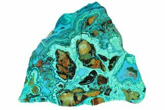 "Buy 4.5"" Polished Chrysocolla and Malachite - Bagdad Mine, Arizona - #167272"