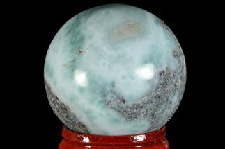 "1.4"" Polished Larimar Sphere - Dominican Republic For Sale, #168143"