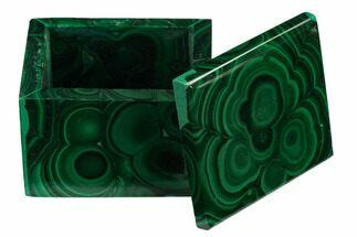 "Buy 2"" Polished Malachite Jewelry Box - Congo - #169858"