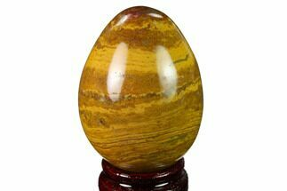 "2.9"" Polished, Colorful Jasper Egg - Madagascar For Sale, #172745"
