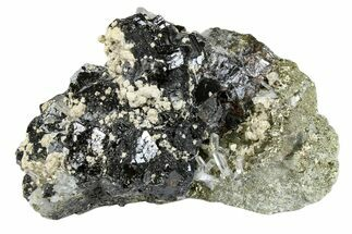 "Buy 5.7"" Cubic Pyrite, Sphalerite and Quartz Crystal Association - Peru - #173419"
