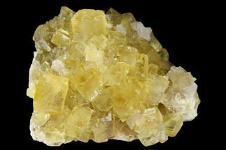 "1.35"" Yellow Cubic Fluorite Crystal Cluster - Morocco For Sale, #173957"
