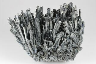 "4.6"" Metallic Stibnite Crystal Spray - Xikuangshan Mine, China For Sale, #175922"