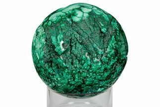 "Buy 4.2"" Flowery, Polished Malachite Sphere - Congo - #176116"