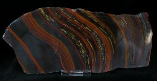 Tiger Iron Stromatolite - Fossils For Sale - #22497