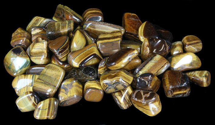 Tumbled Tiger's Eye - 8oz. (About 12pc.) - Photo 1