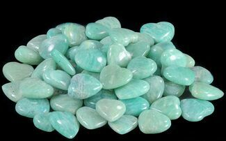 Small Polished Amazonite Hearts