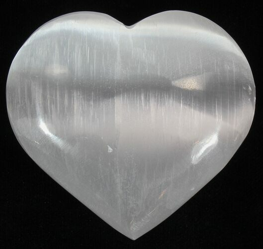 "Wholesale Box: 2"" - 2.6"" Selenite Hearts - 100 Pieces - Photo 1"