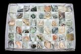 Mixed Indian Mineral & Crystal Flats - 54 Pieces - Photo 3