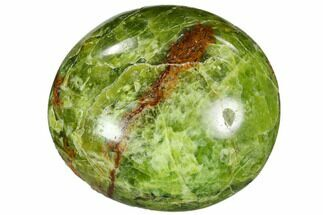"2"" Polished Green Opal Palm Stone - 1 Piece"