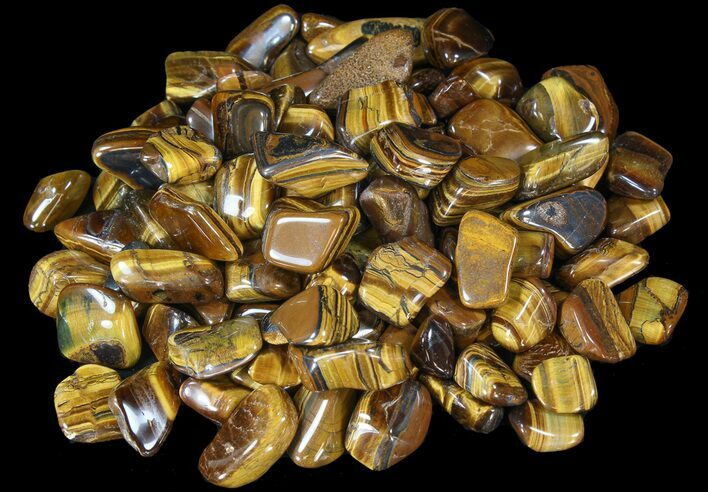 Tumbled Tiger's Eye - 1 LB (About 24 Pieces) - Photo 1