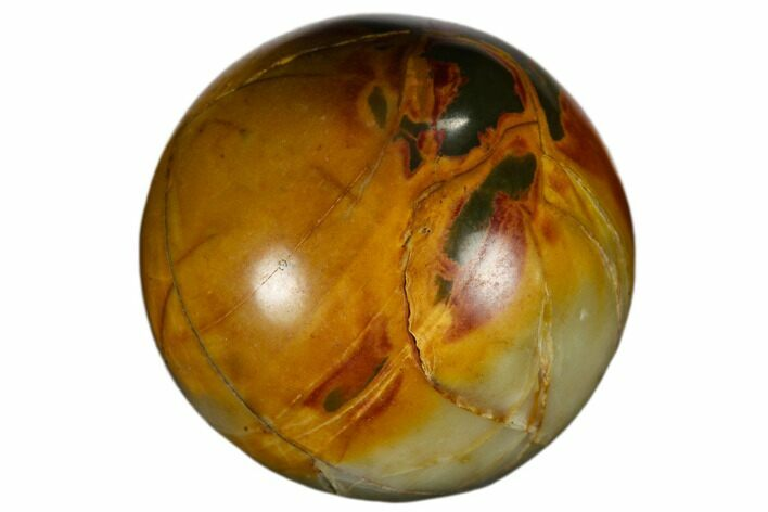 ".9"" Polished Cherry Creek jasper Sphere - Photo 1"