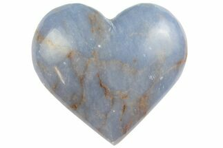 "1.8"" Polished Blue Angelite (Anhydrite) Heart"
