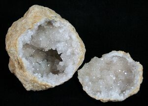 Small, Sparkling Quartz Geodes From Morocco