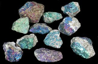 Bulk Peacock Ore (Treated Chalcopyrite) - 10 Pack