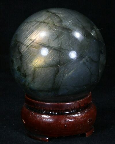 "2.01"" Flashy Labradorite Sphere - Great Color Play"
