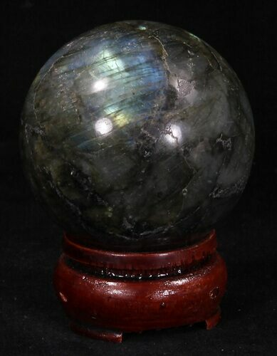 "2.14"" Flashy Labradorite Sphere - Great Color Play"