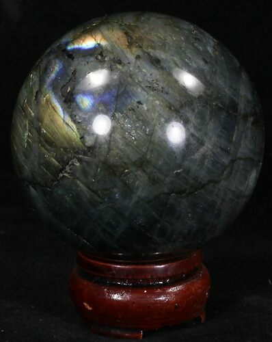 "2.78"" Flashy Labradorite Sphere - Great Color Play"