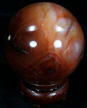 "2.48"" Colorful Carnelian Agate Sphere For Sale, #32084"