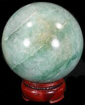 "3.02"" Aventurine (Green Quartz) Sphere - Glimmering For Sale, #32141"