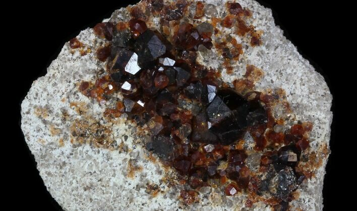 "1.92"" Spessartine Garnets & Smoky Quartz - China"