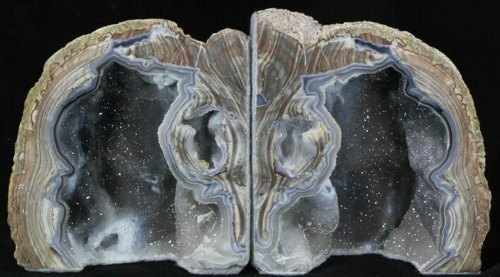 "4.3"" Dugway Geode Bookends - Sparking Crystals"
