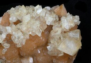 "Buy 2.45"" Peach Stilbite With Calcite Crystals - New Jersey - #33457"