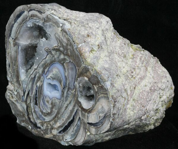 "4.7"" Crystal Filled Dugway Geode (Polished Half)"