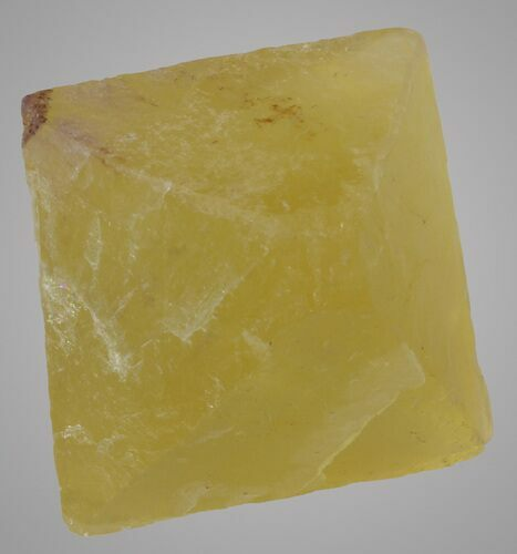 "1.51"" Yellow Cleaved Fluorite Octahedron - Illinois"