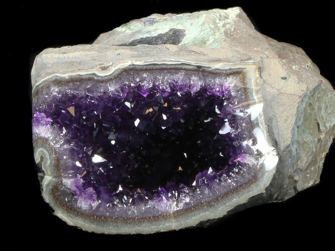 "4"" Deep Purple Amethyst Geode"