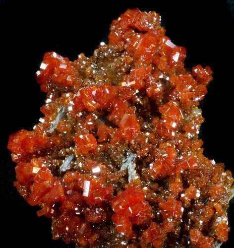 "2.5"" Brilliant Red Vanadinite Crystal Cluster - Morocco"