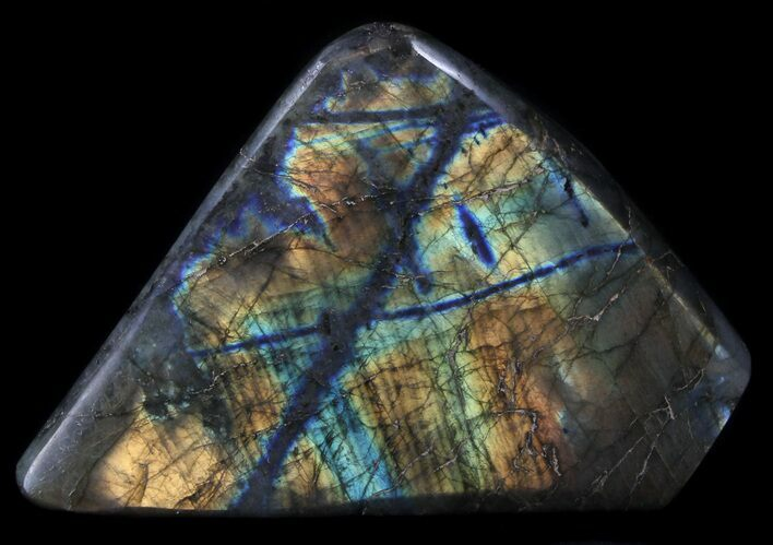 "4.9"" Flashy Polished Labradorite - Free-Standing"